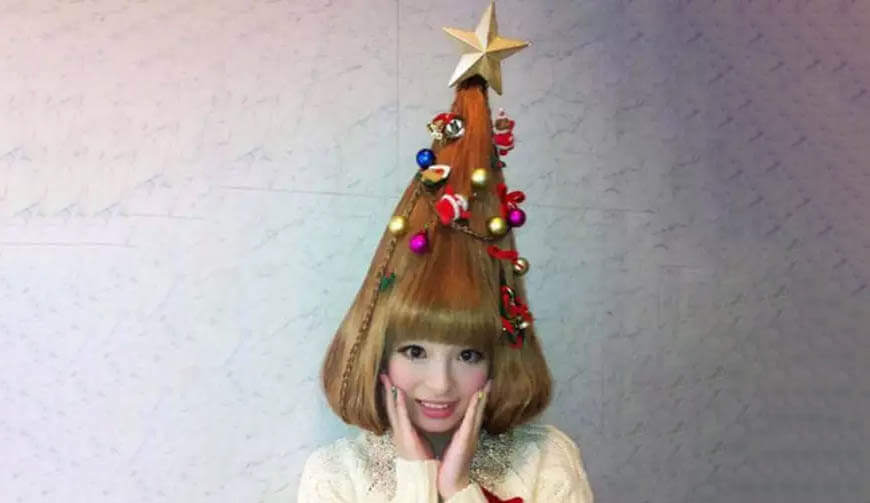 Sparkling star hairstyle
