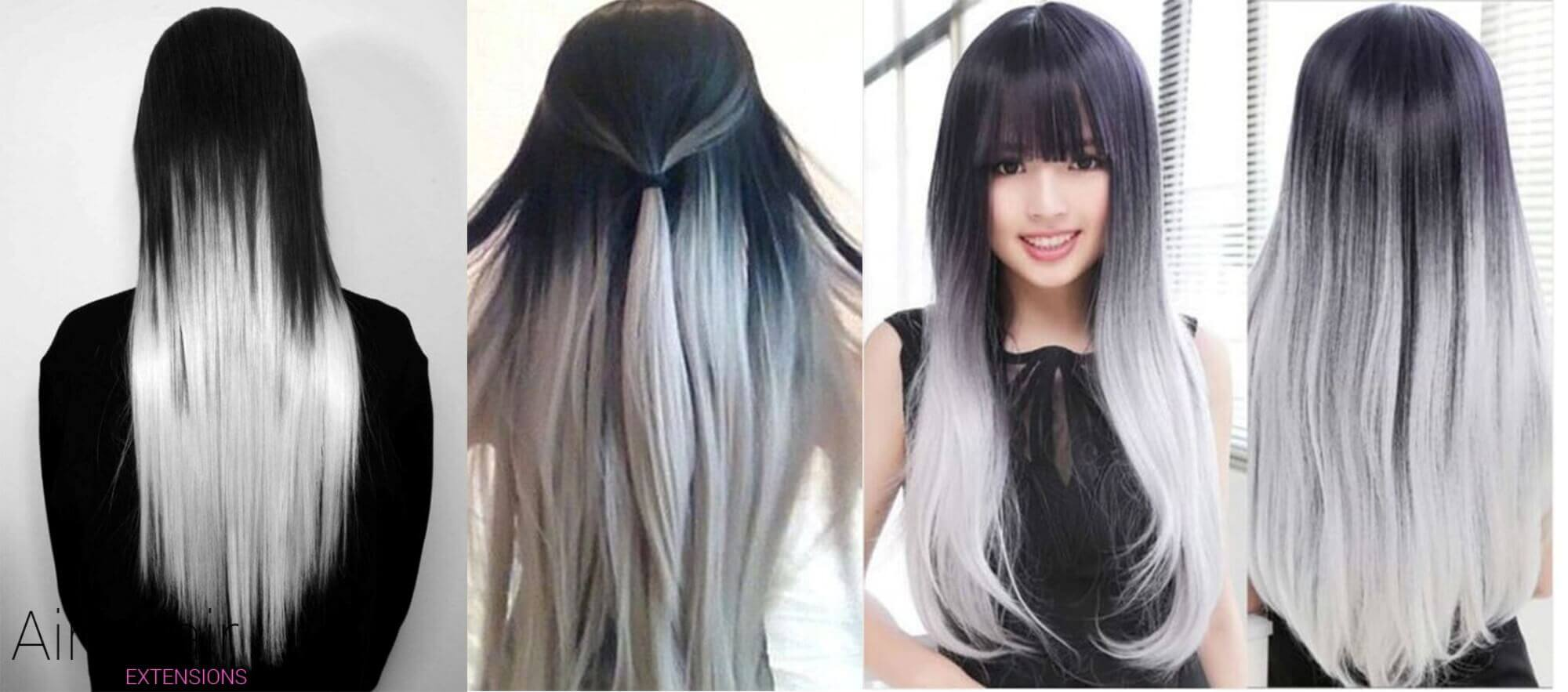 Black And White Ombre
