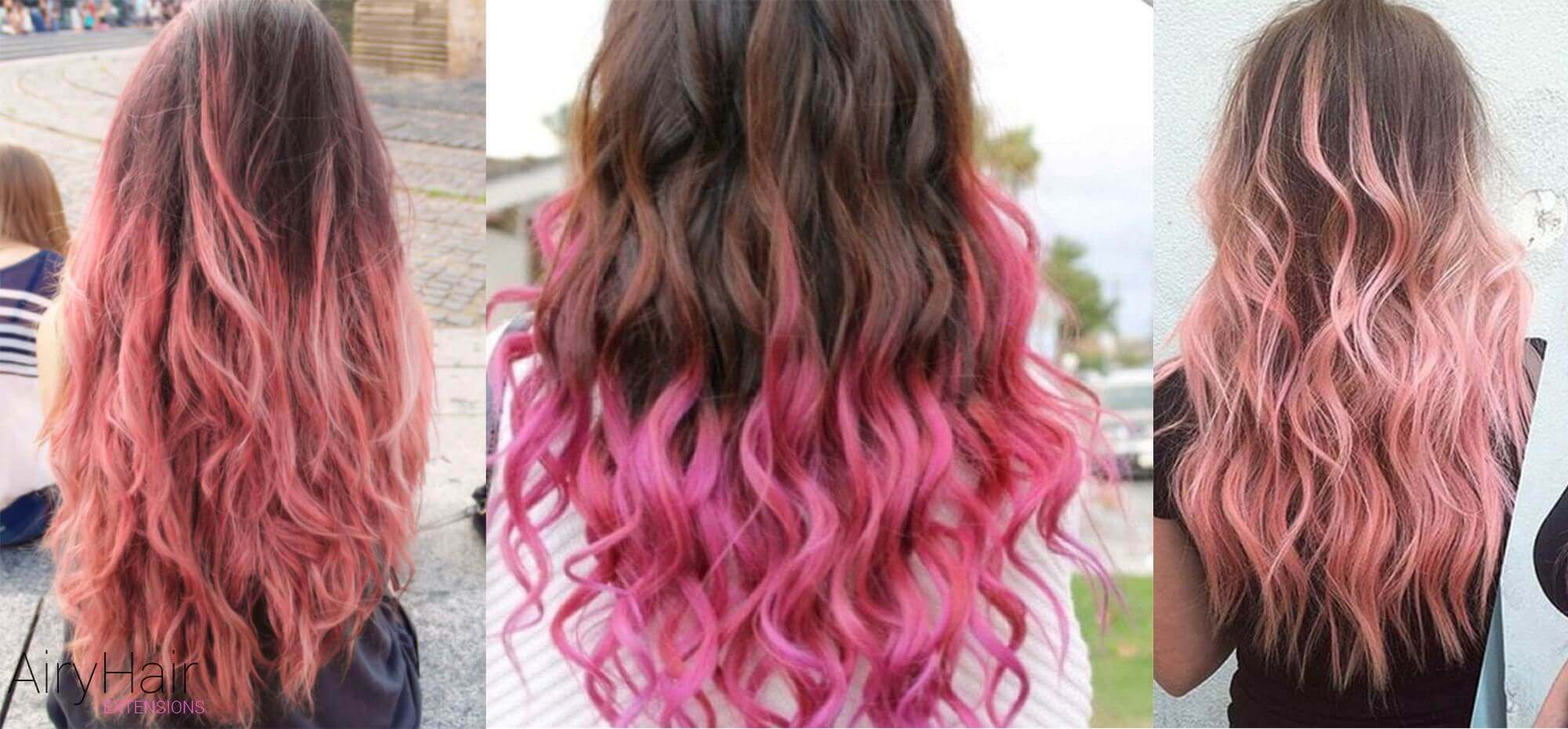 Brown and pink hair color