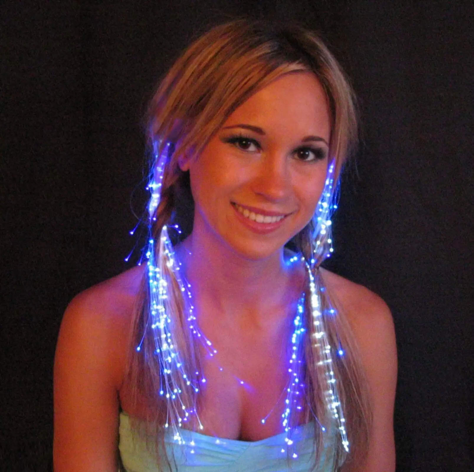 Fairy lights hairstyle