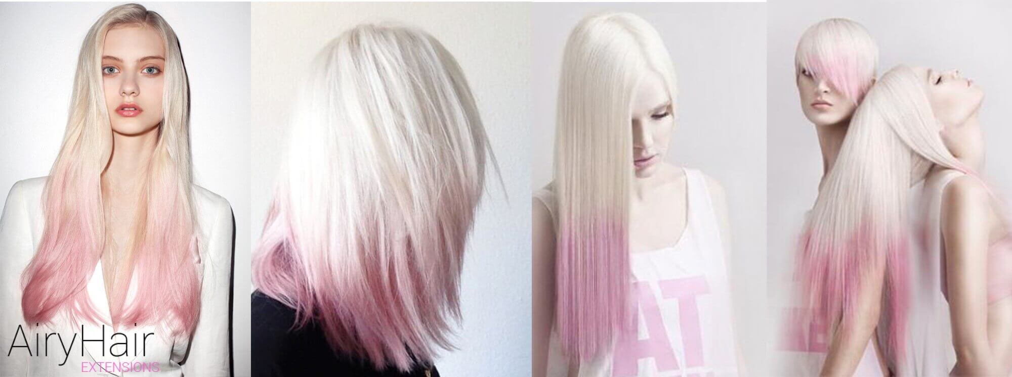 White And Pink Ombre