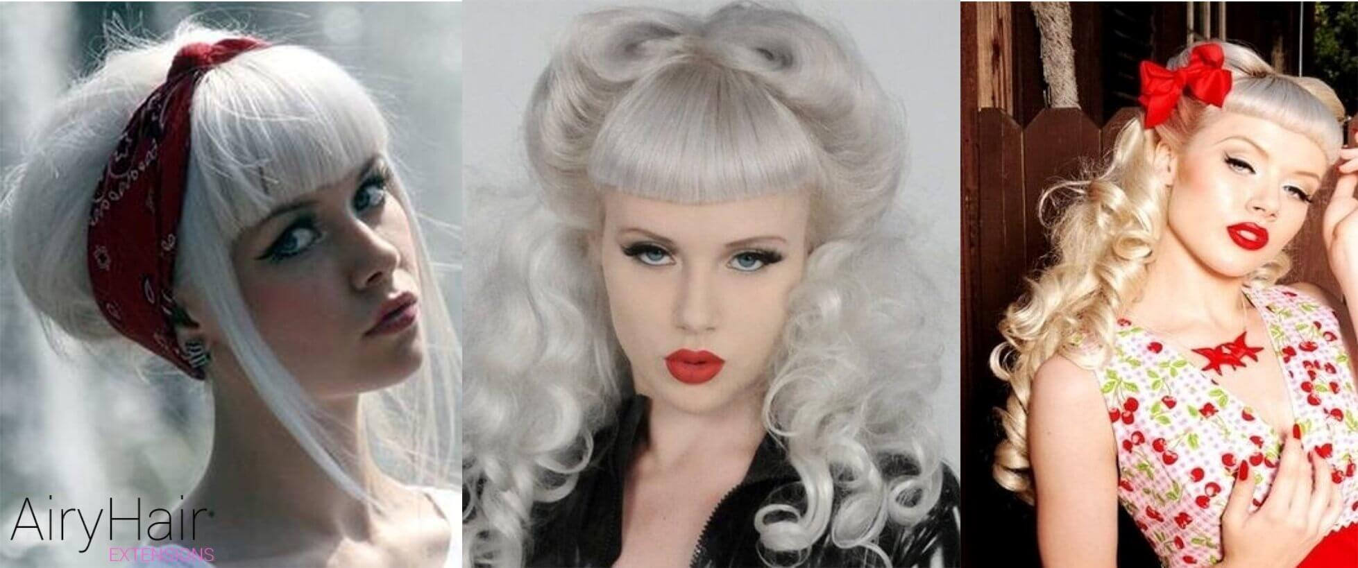 White Pinup Hairstyle
