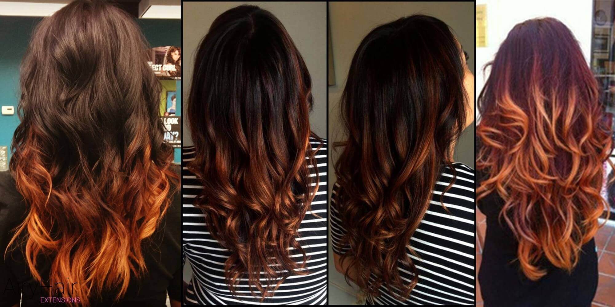 Simple Black and Copper Ombre