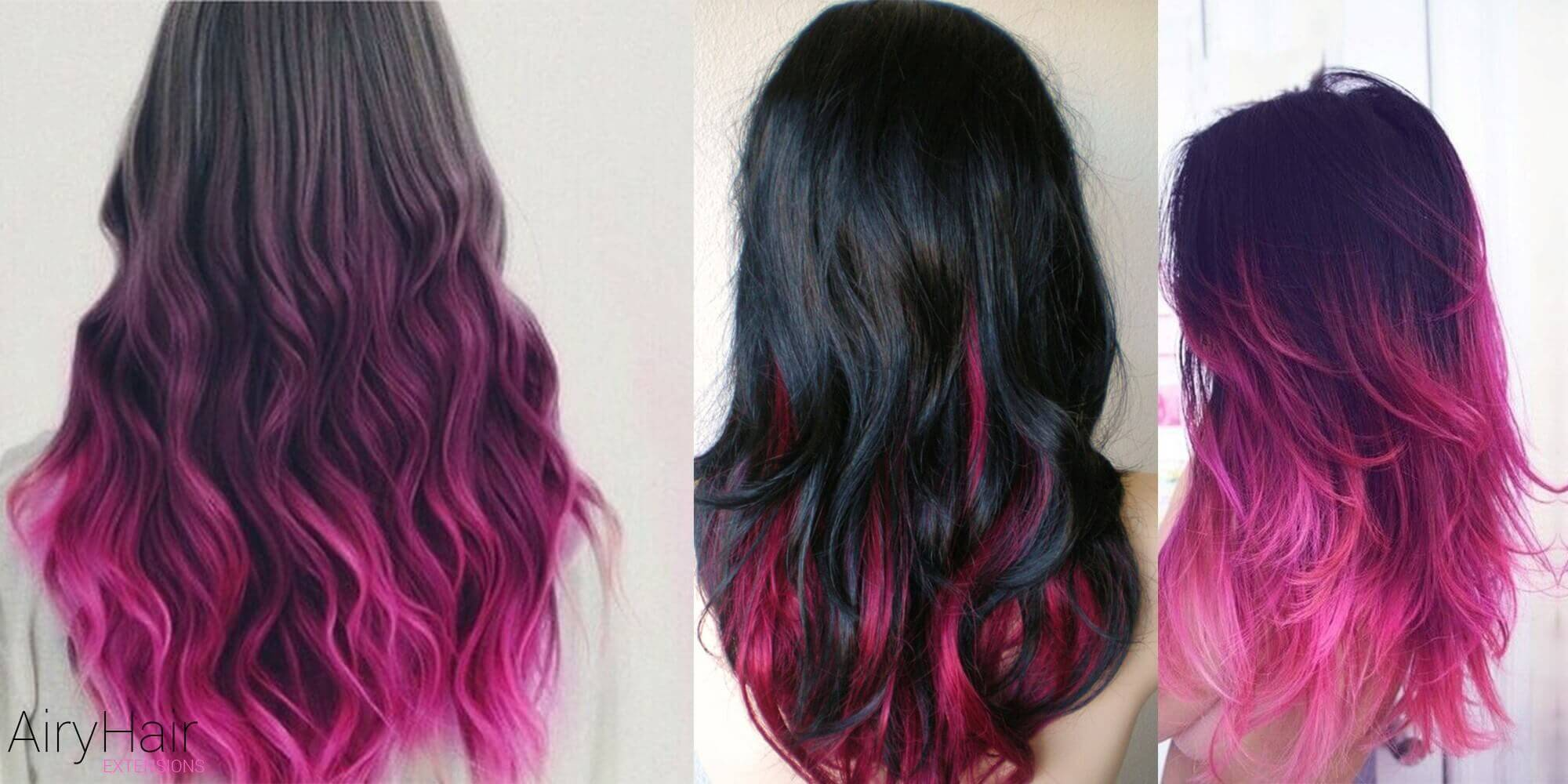 Cute Black and Pink Ombre