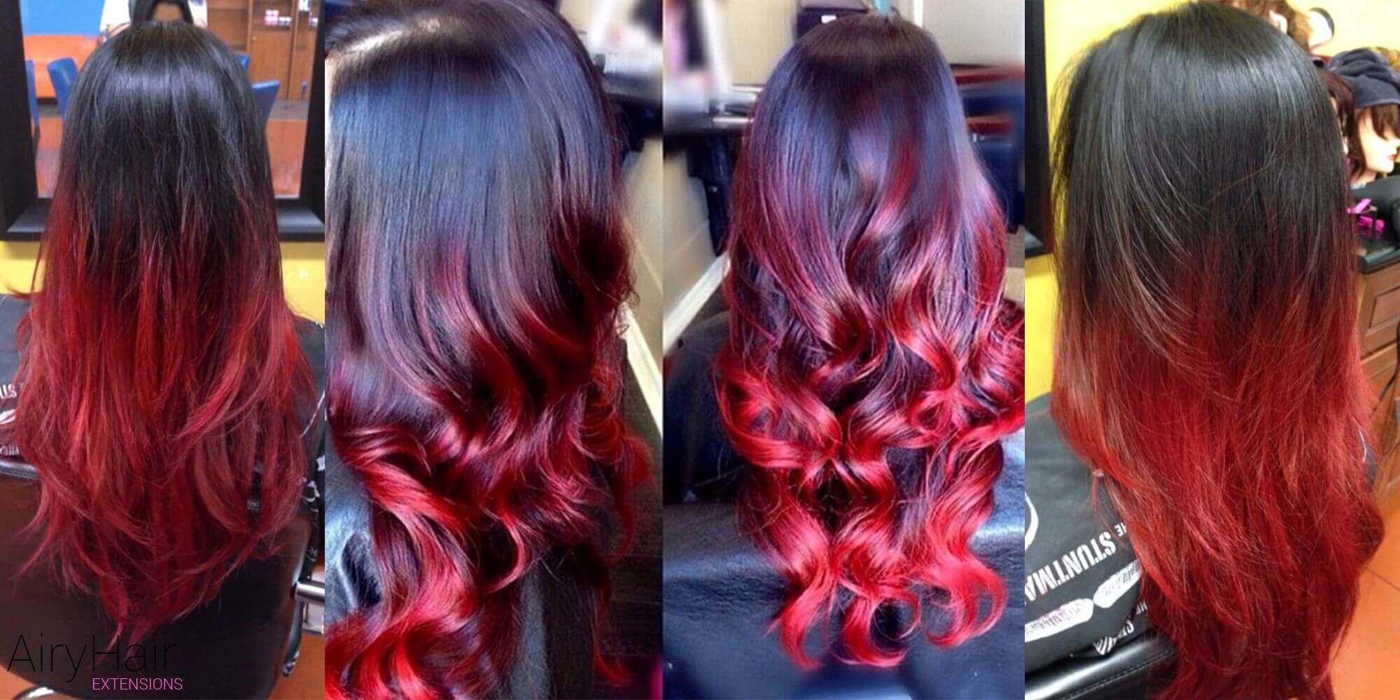 Fiery Black and Red Ombre