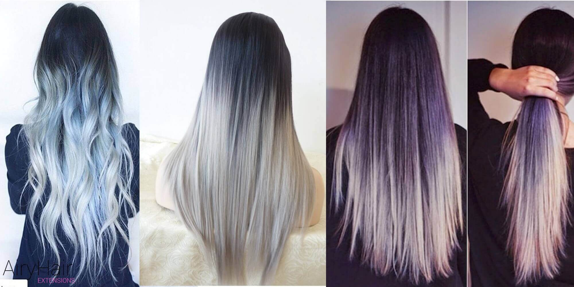Trendy Black and Silver Ombre