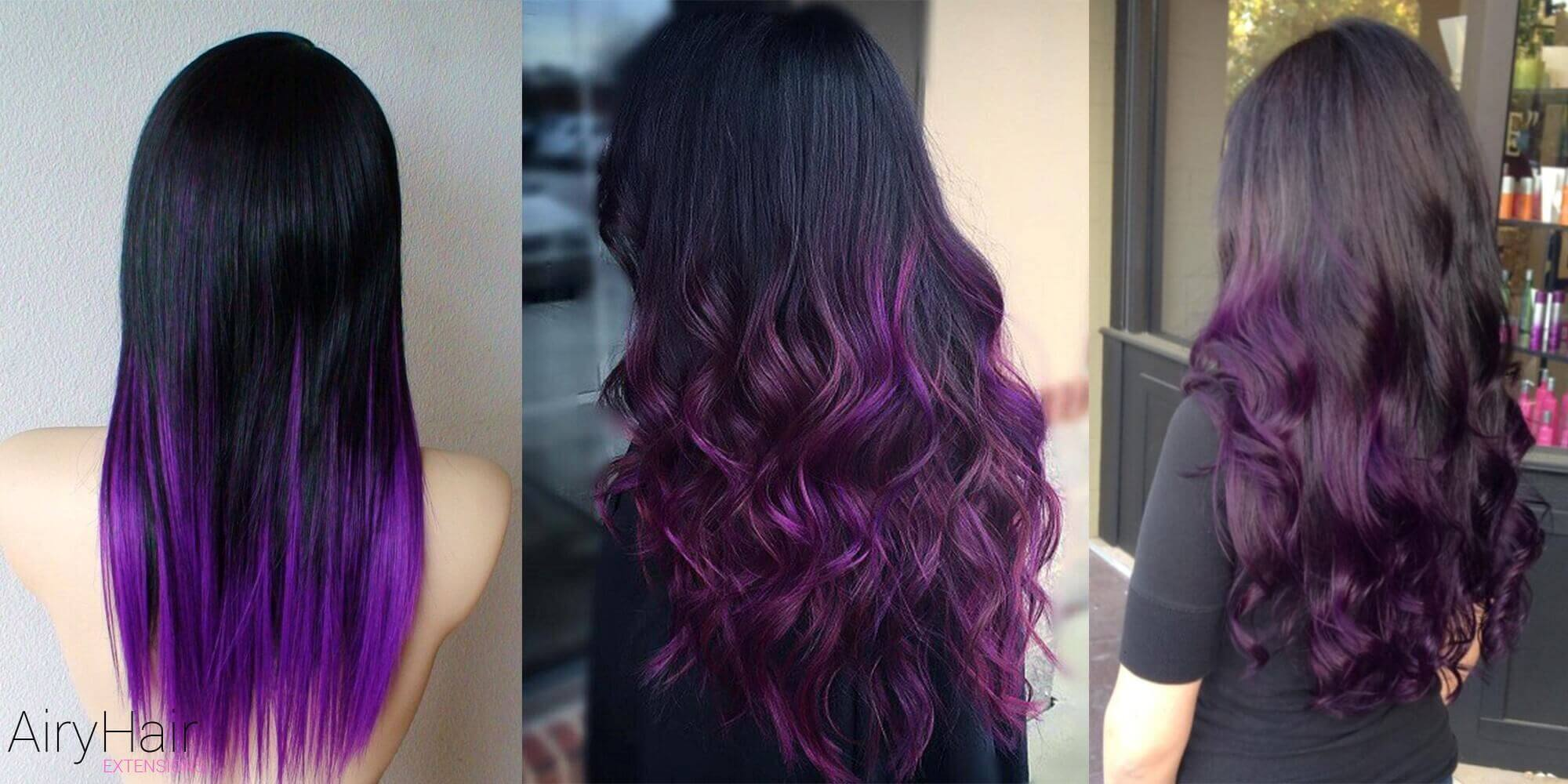 Mysterious Black and Violet Ombre