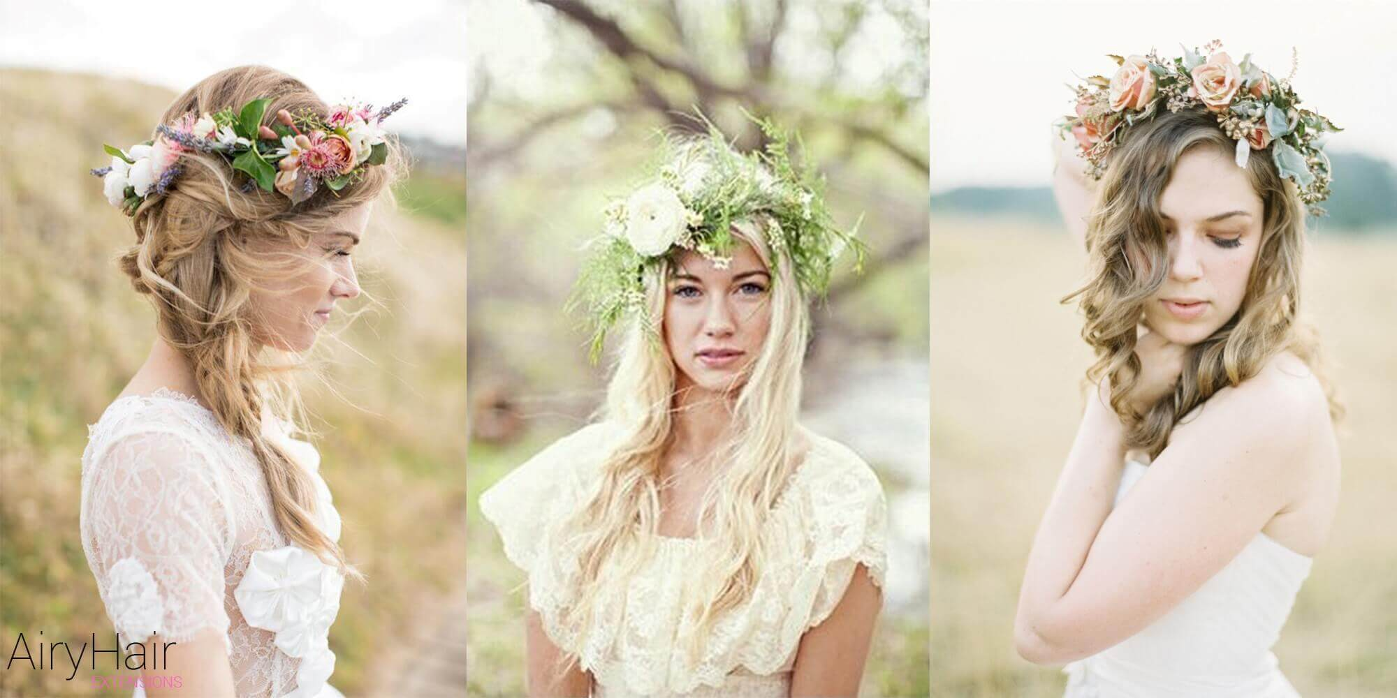 Boho Hairstyle With Flowers