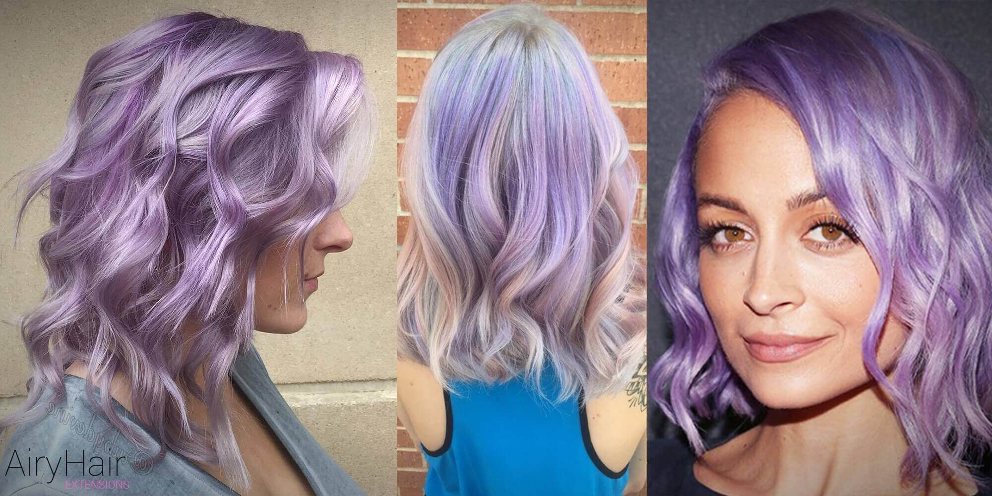 Curly Mid-length Pastel Hairstyle