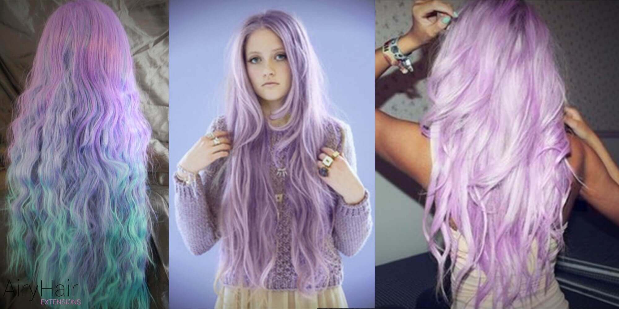 Extra Long Pastel Hairstyle
