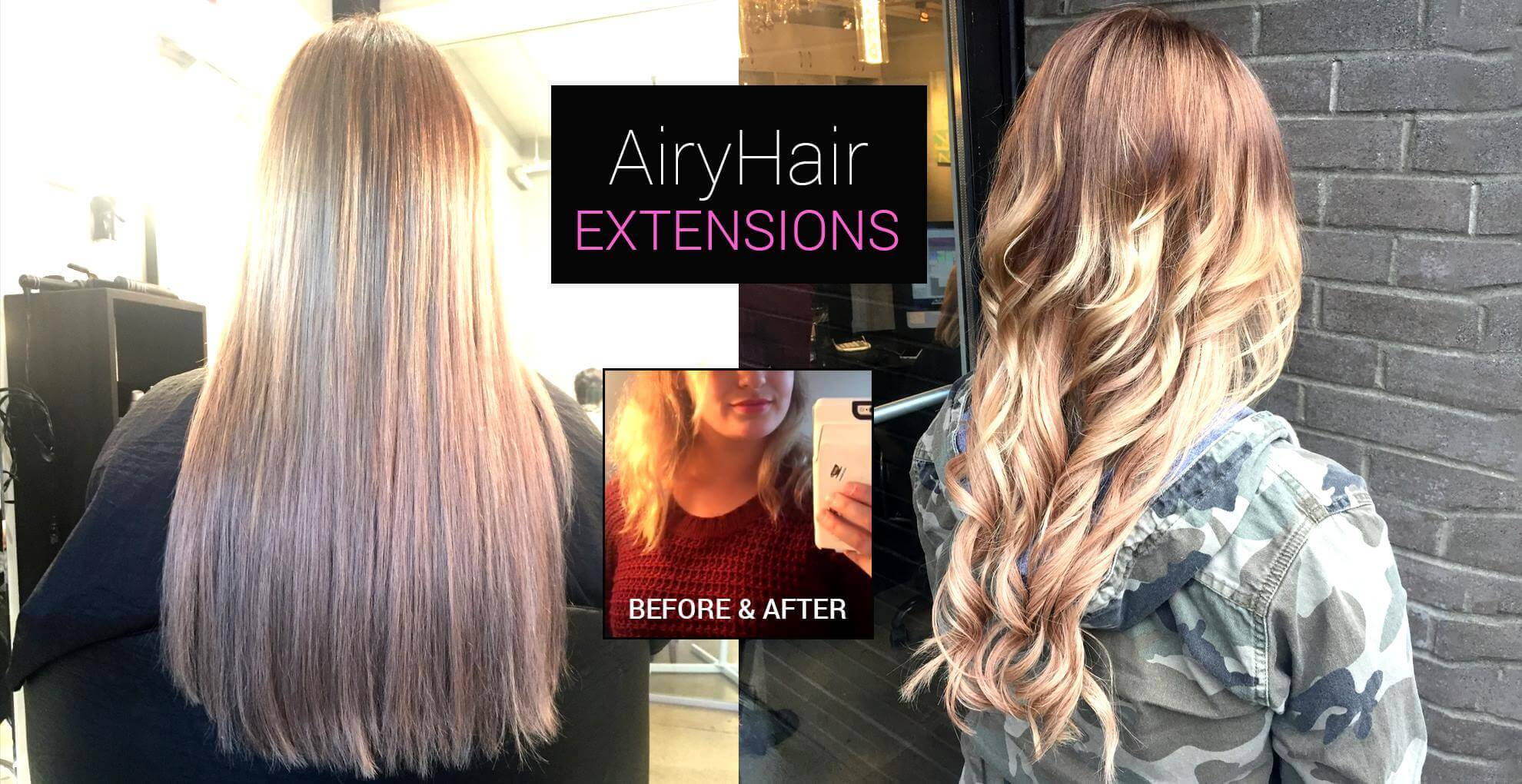 Hair Extensions, Before and After