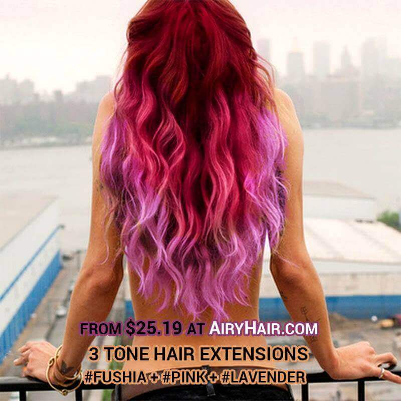 Three Color Extensions: Fushia, Pink and Lavender