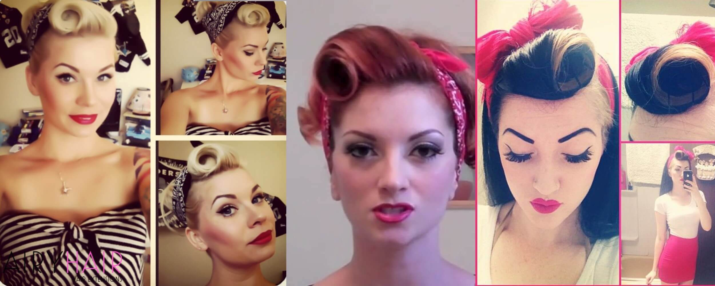 Pinup Up-Do With Bumper Bangs