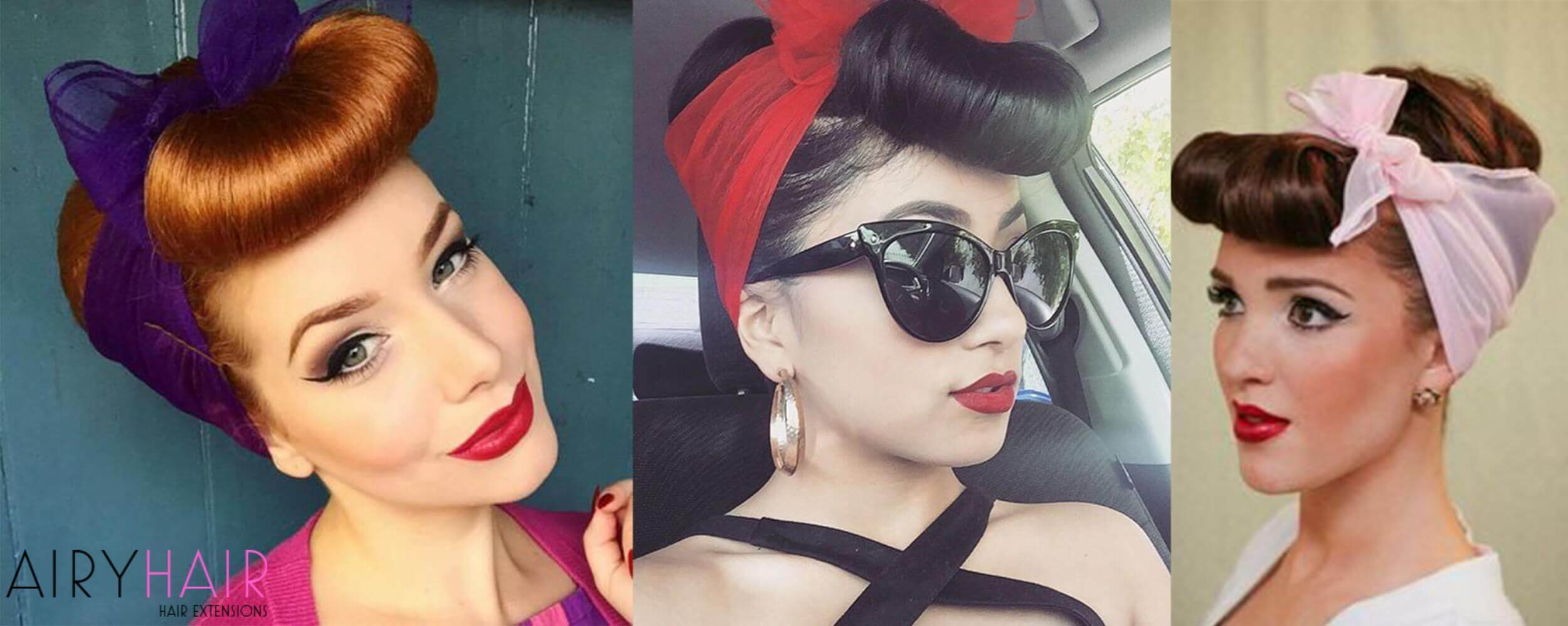 3 Stunning Rockabilly or Pinup Hairstyles