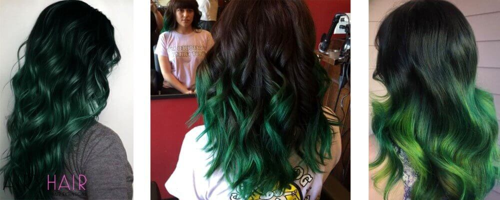 Black Hair Ombre Green | www.pixshark.com - Images ...