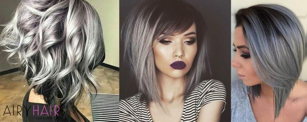 10 Black And Silver Ombre Hairstyles For Hair Extension Users