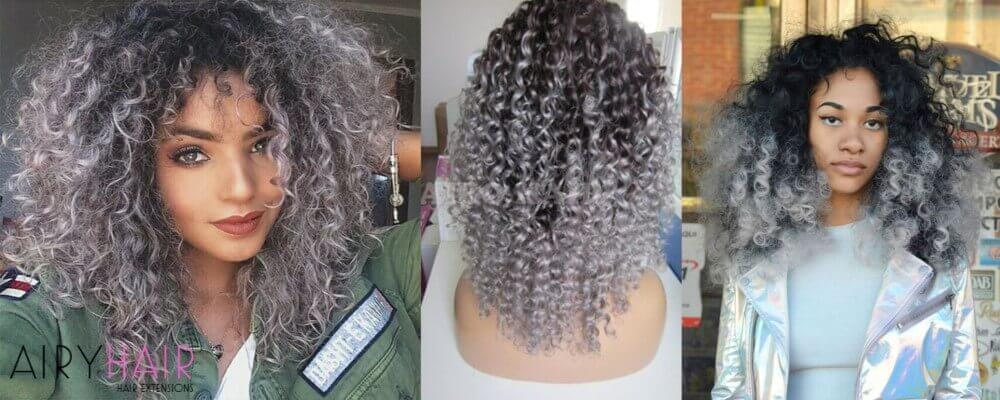 Tight Curls Ombre Hairstyle