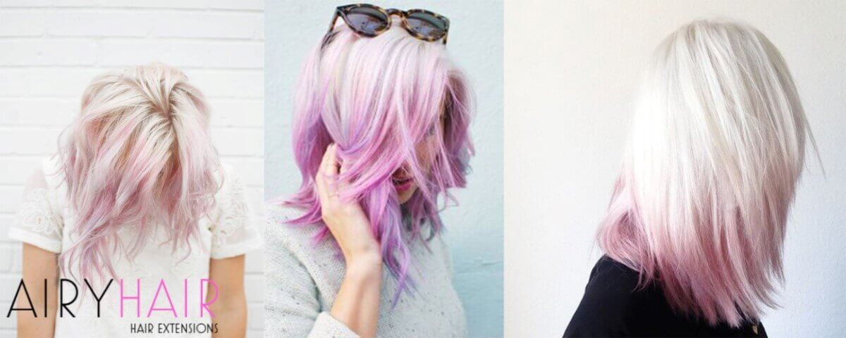White and Pink Ombre Extensions