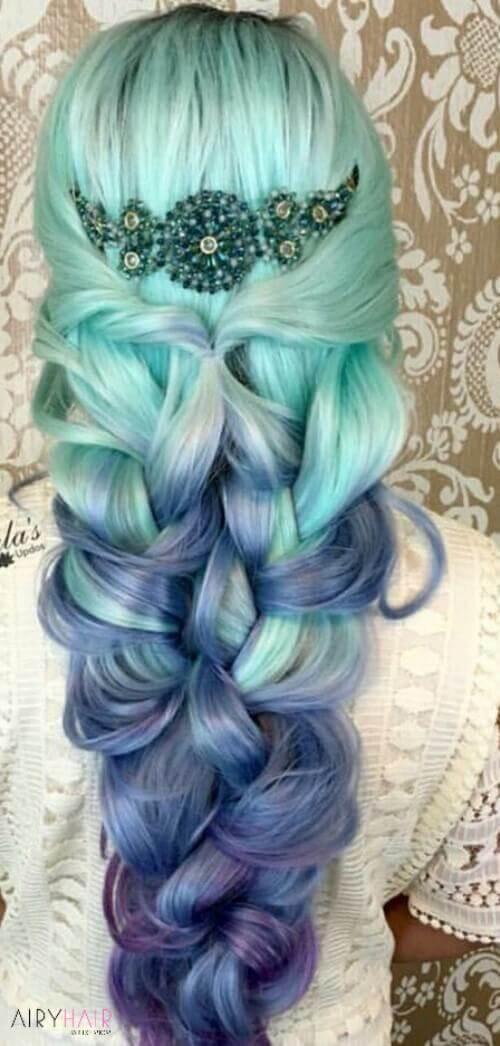 Mermaid haircut