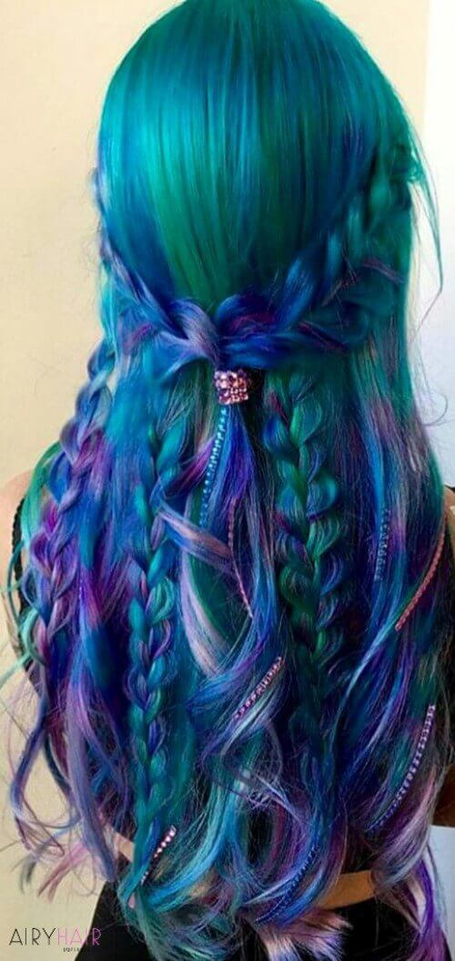 37 Breathtaking Mermaid Inspired Hairstyles For Summer