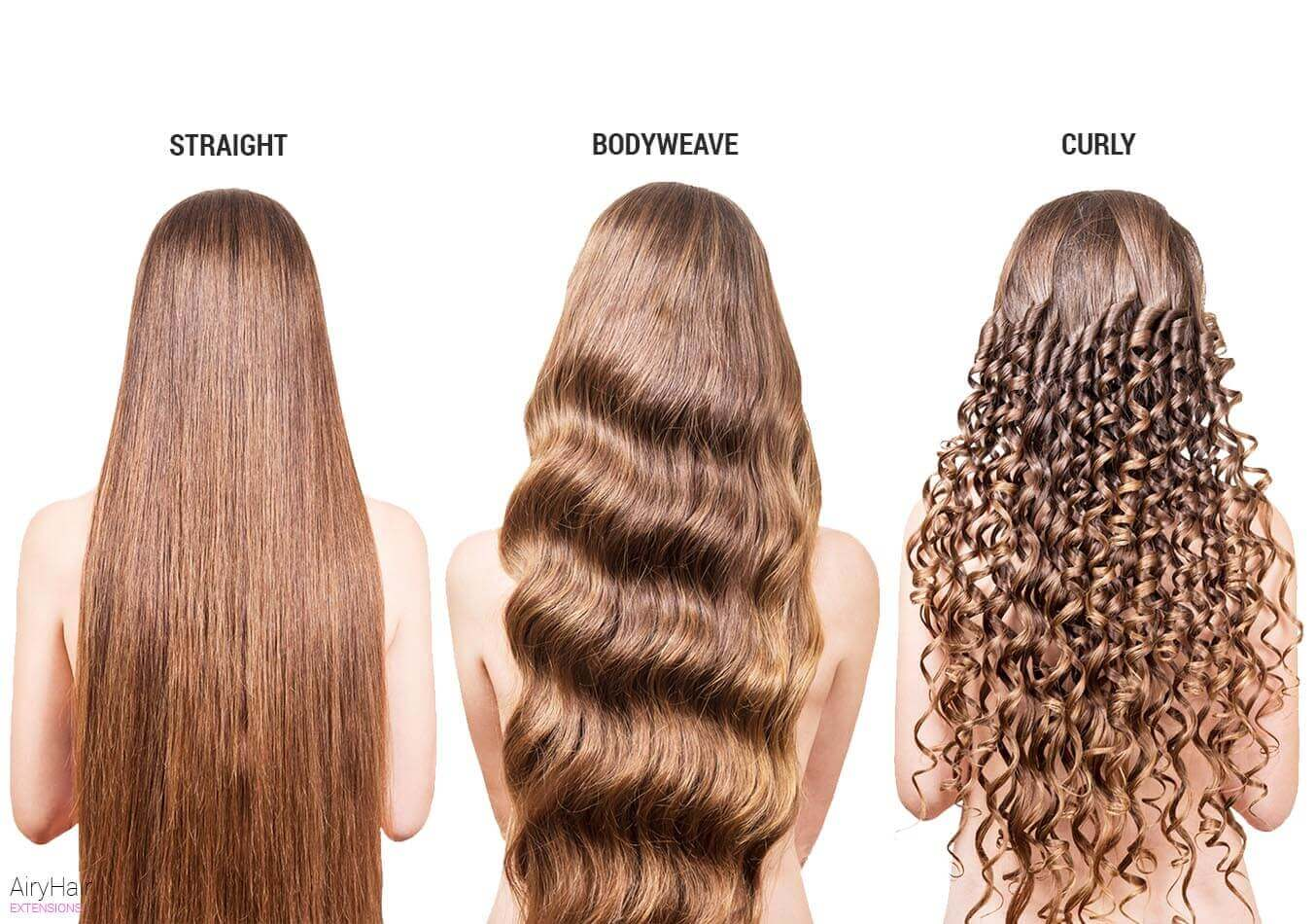 Various hair textures