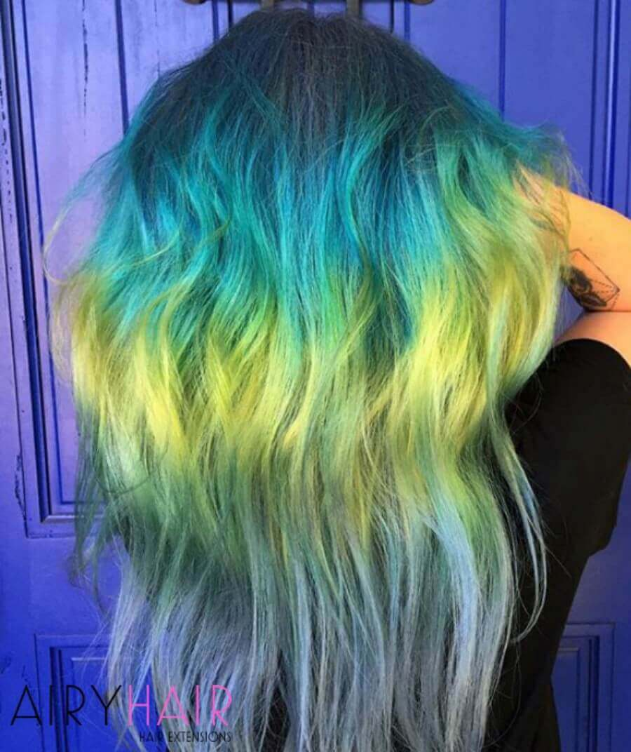 Turquoise and Yellow Shine Line