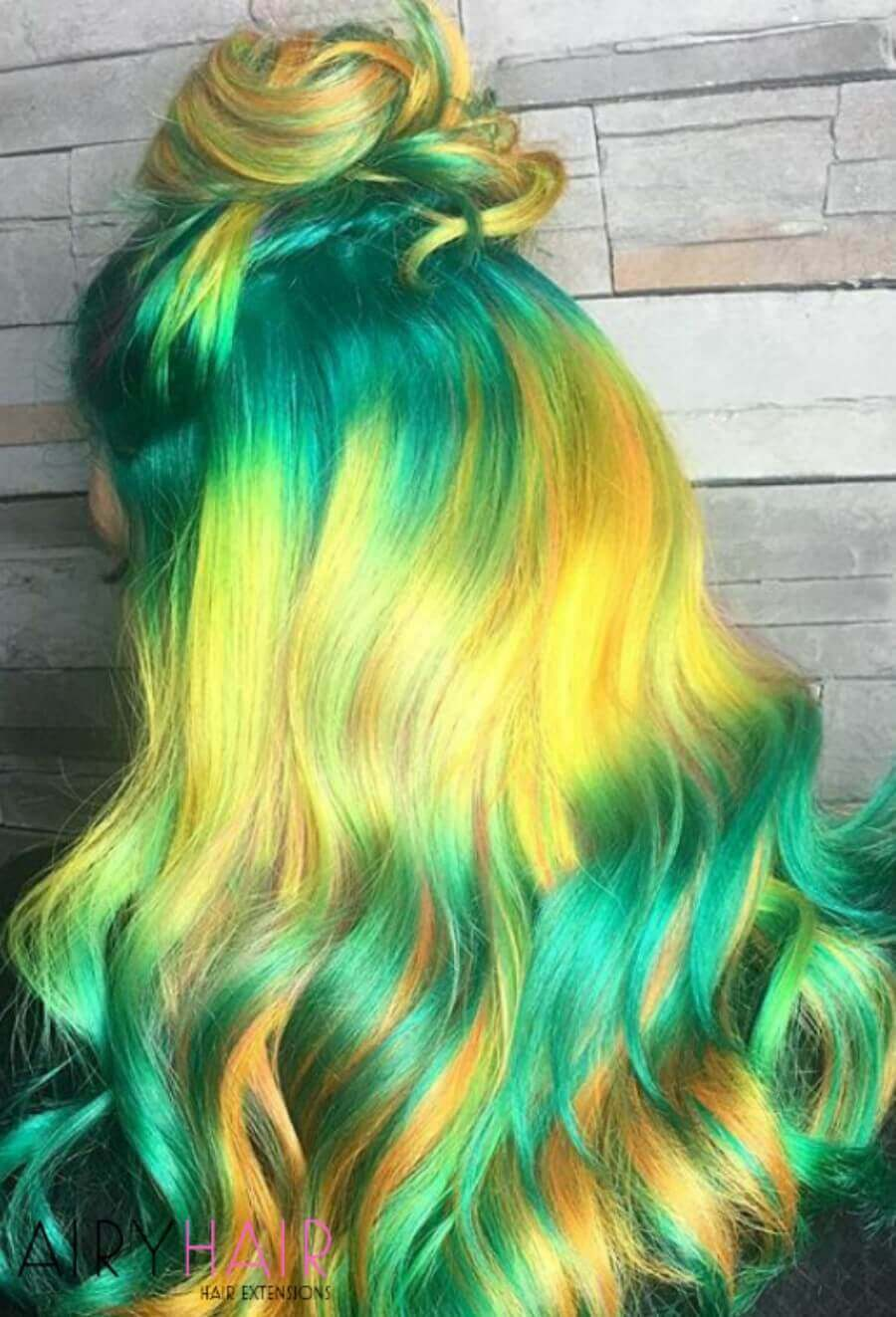 Turquoise and Yellow Mix