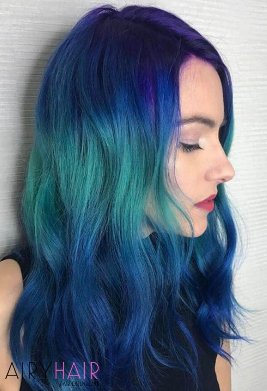Blue and Turquoise Ombre
