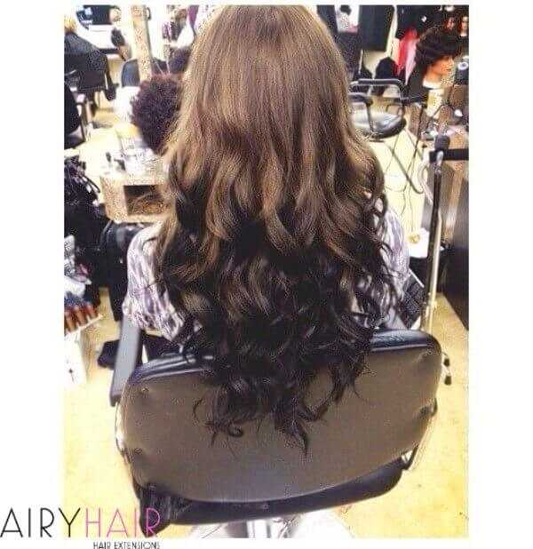 Dark to light color ombre