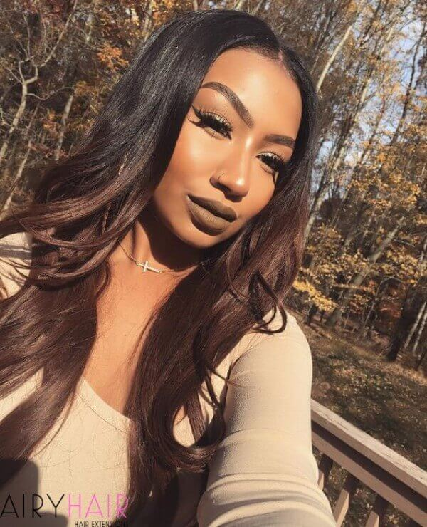 Perfect black to brown ombre