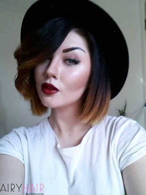 Ombre on short hair