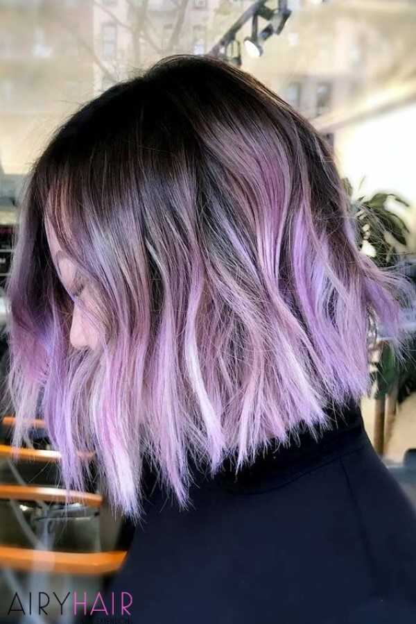 Purple ash colored highlights