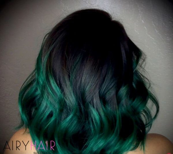 Back and green ombre