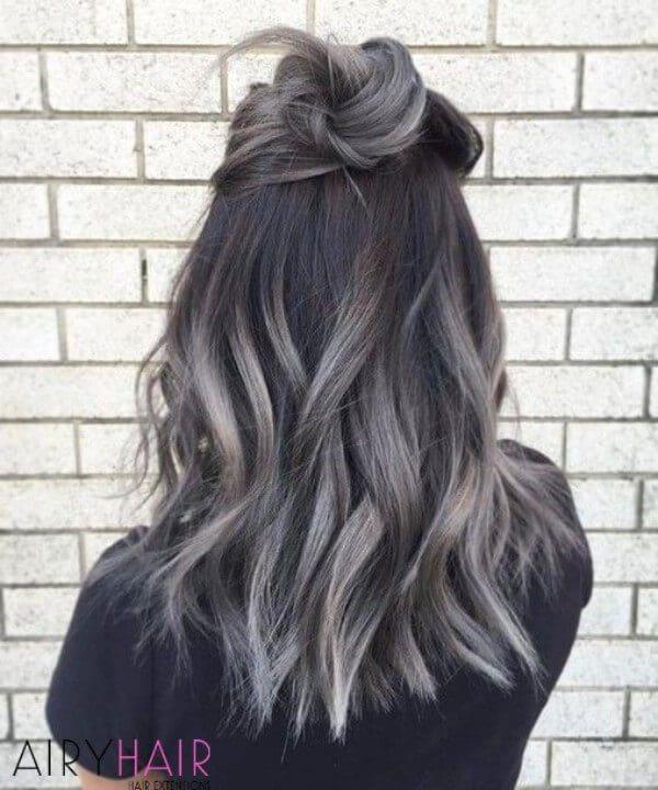 Dark grey ombre