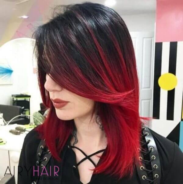 13 Best Black And Red Ombré Hair Color Ideas