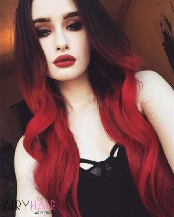 13 Best Black And Red Ombre Hair Color Ideas 2020