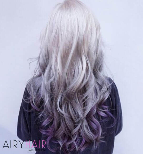 Reversed ombre hairstyle
