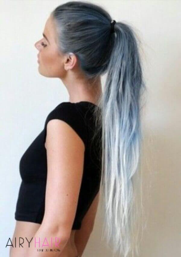 Extra-long hair ombre