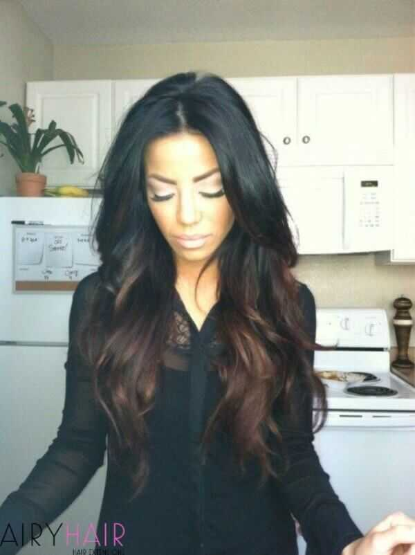 Black to brown ombre
