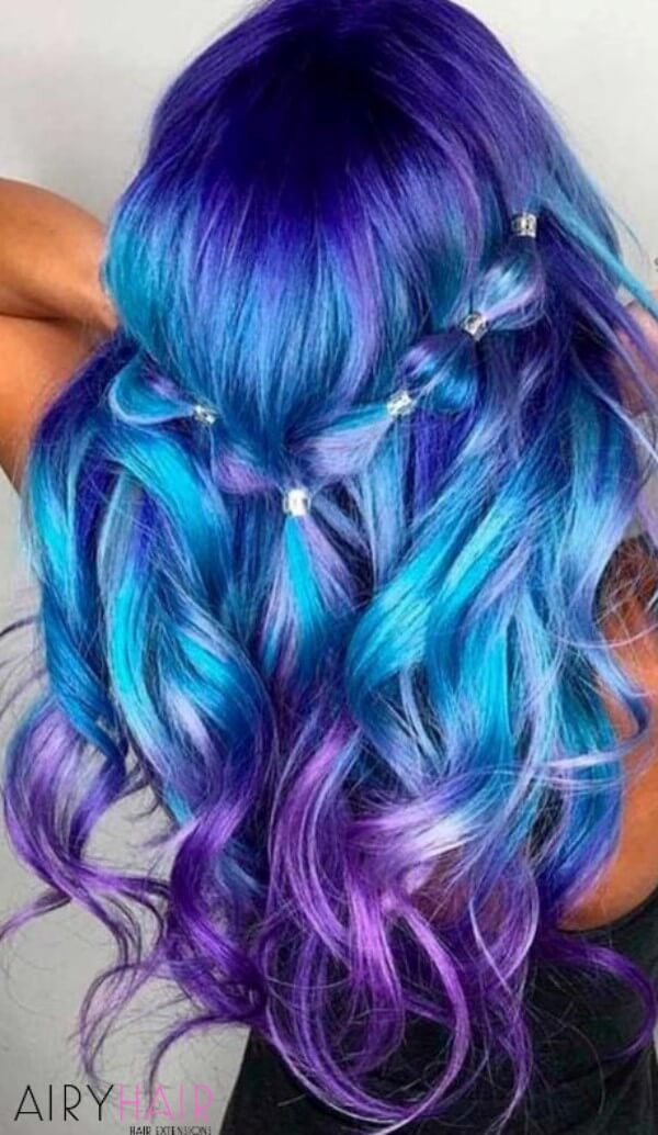 Electric hair colors