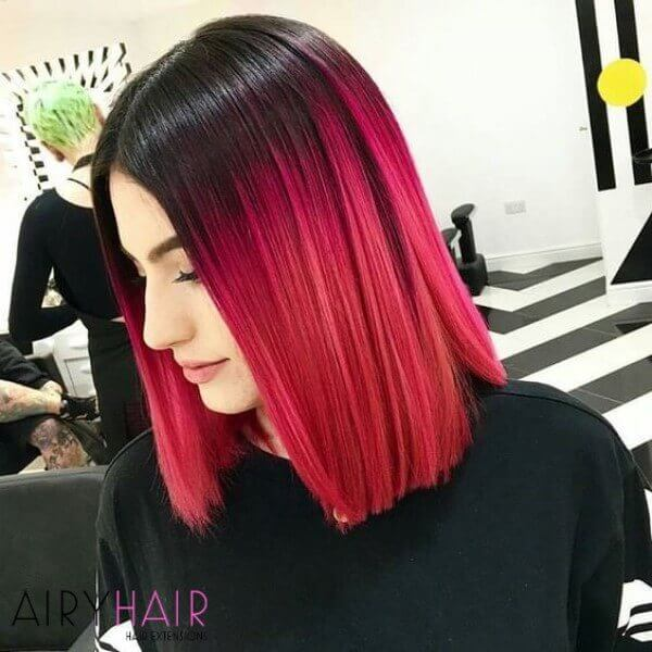Perfect ombre, red black hair extensions