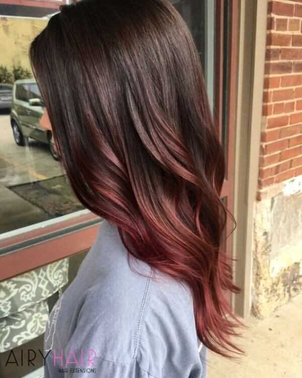 Toned down red black ombre