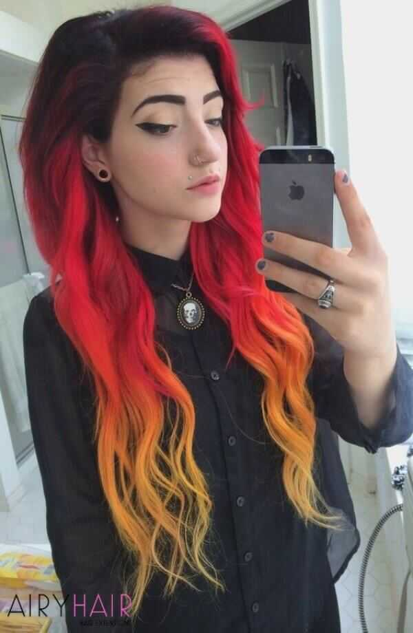 13 Best Black And Red Ombre Hair Color Ideas