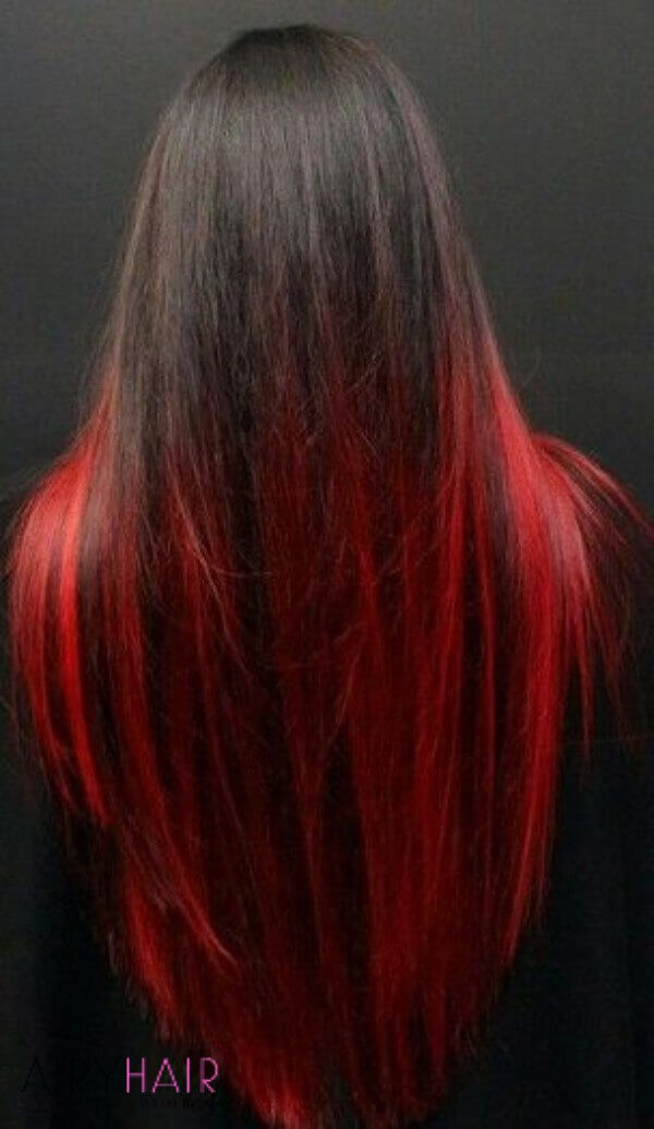 Amazing black and red ombre
