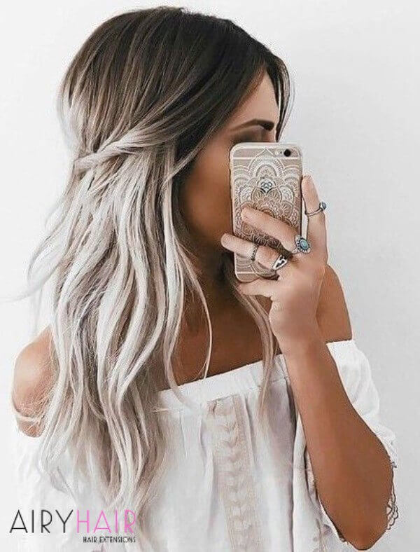 10 Best White Ombr Hairstyle Ideas For Hair Extensions