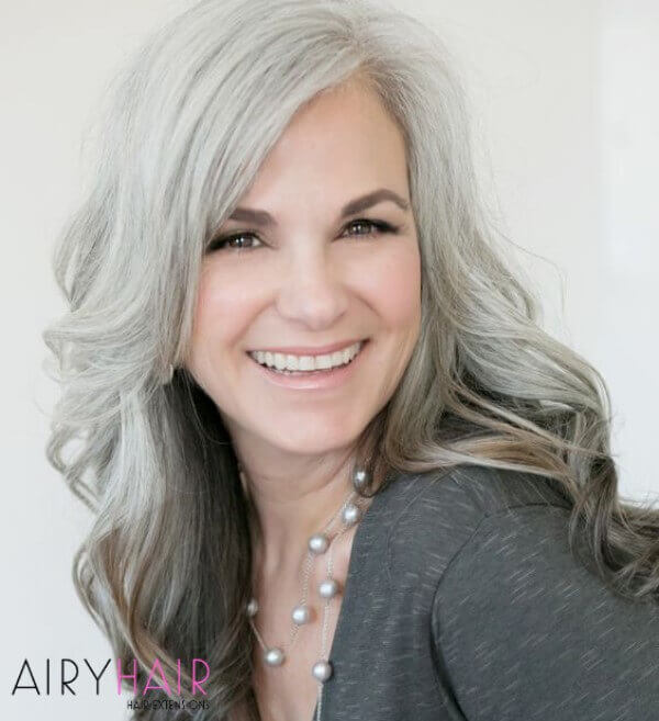 Ombre hairstyle for older women
