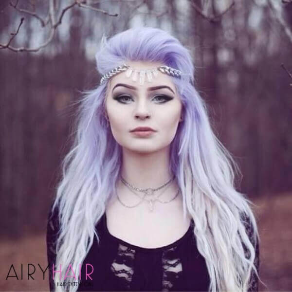 Pastel violet and white ombre