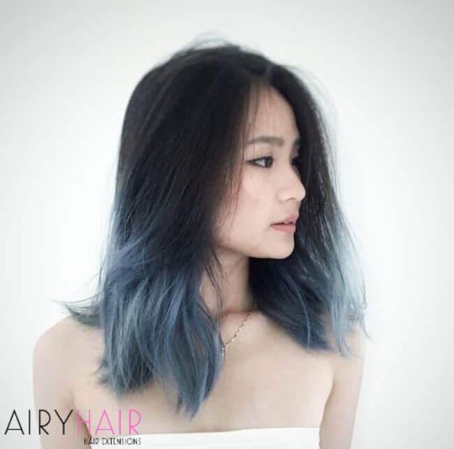 Pastel blue ombre