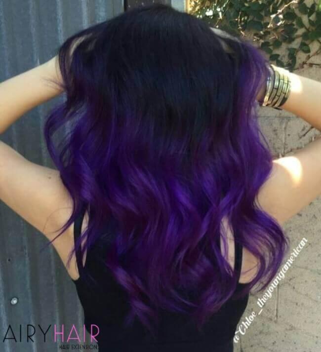 Purple and black ombre