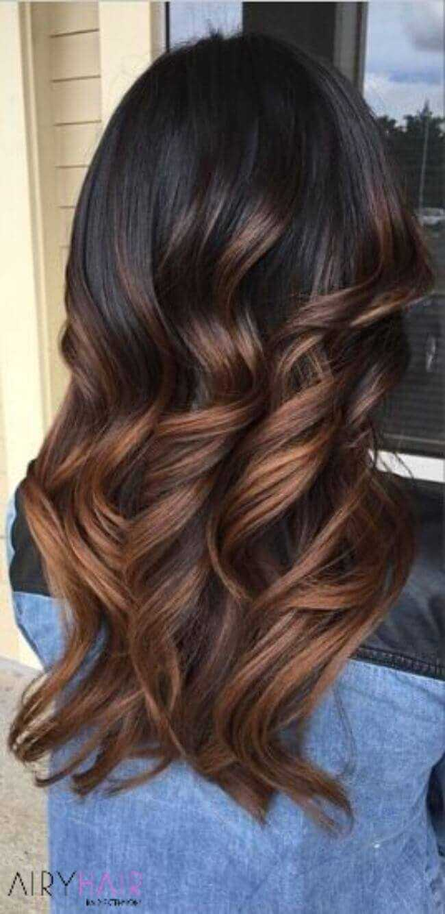Black to a beautiful chestnut brown